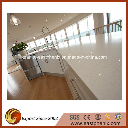 Polished Engineered Artificial Quartz Countertop for Kitchen