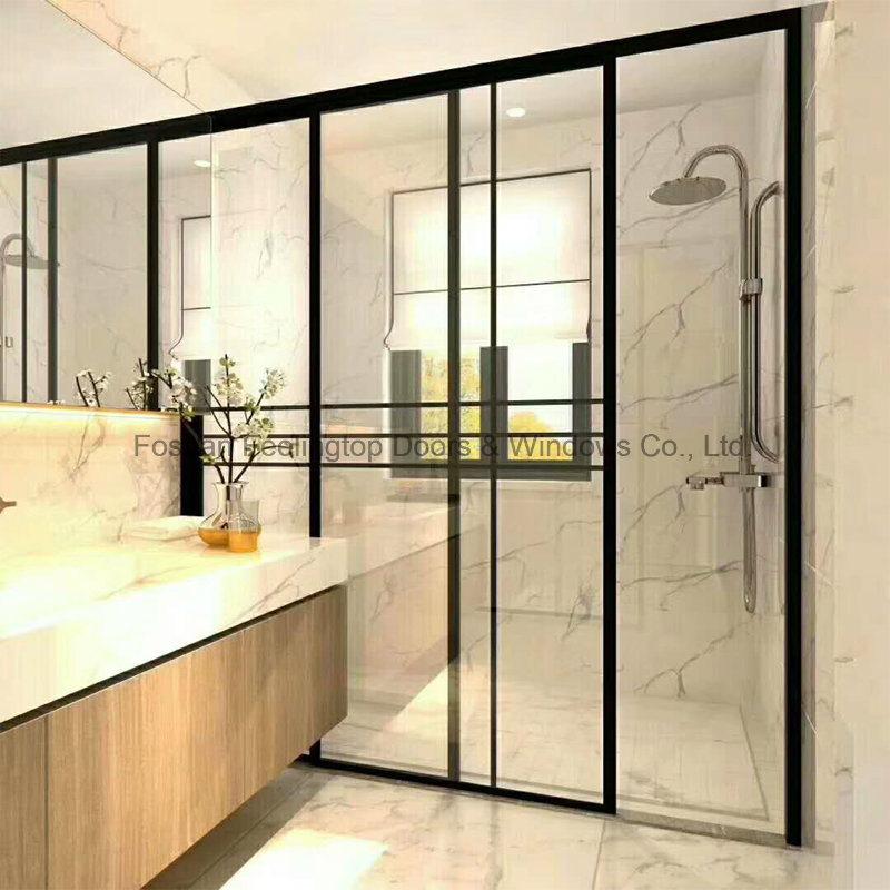 China New Popular Italian Simple Tempered Glass Aluminum Interior