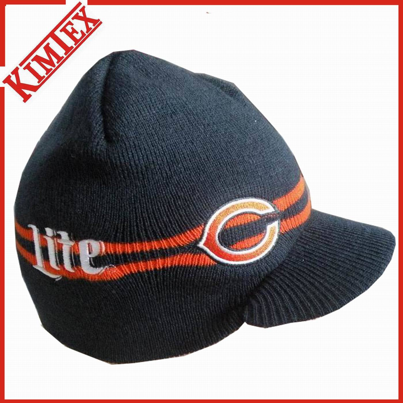 adfa2aa00eb8c China Unisex Promotion Winter Knitted Hat with Visor - China Knitted ...