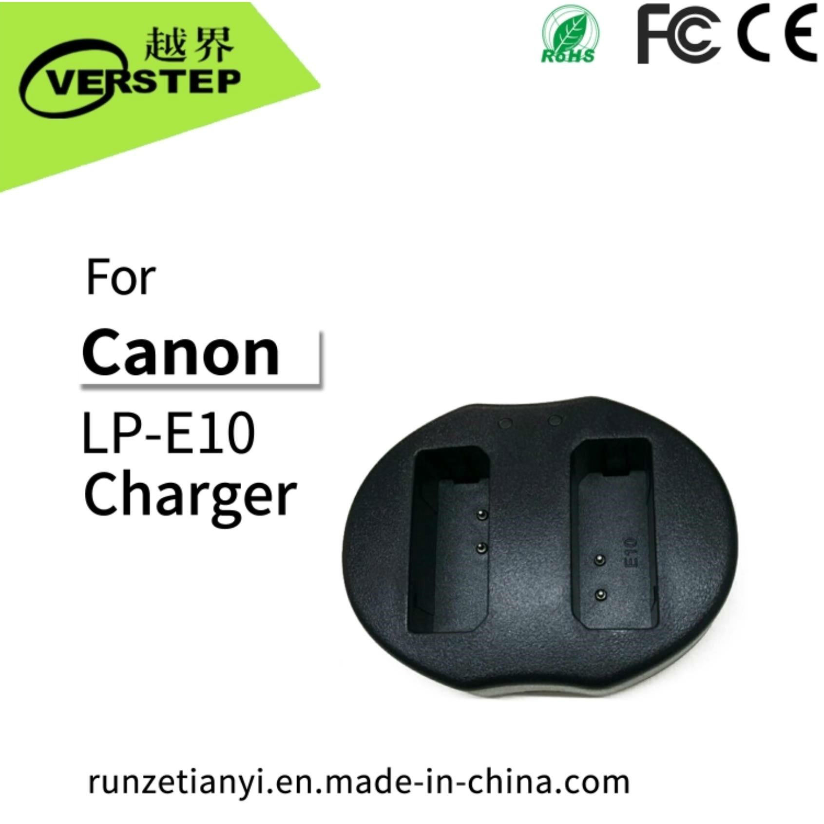 China New OEM Camera Battery Charger for Canon Lp-E10 EOS