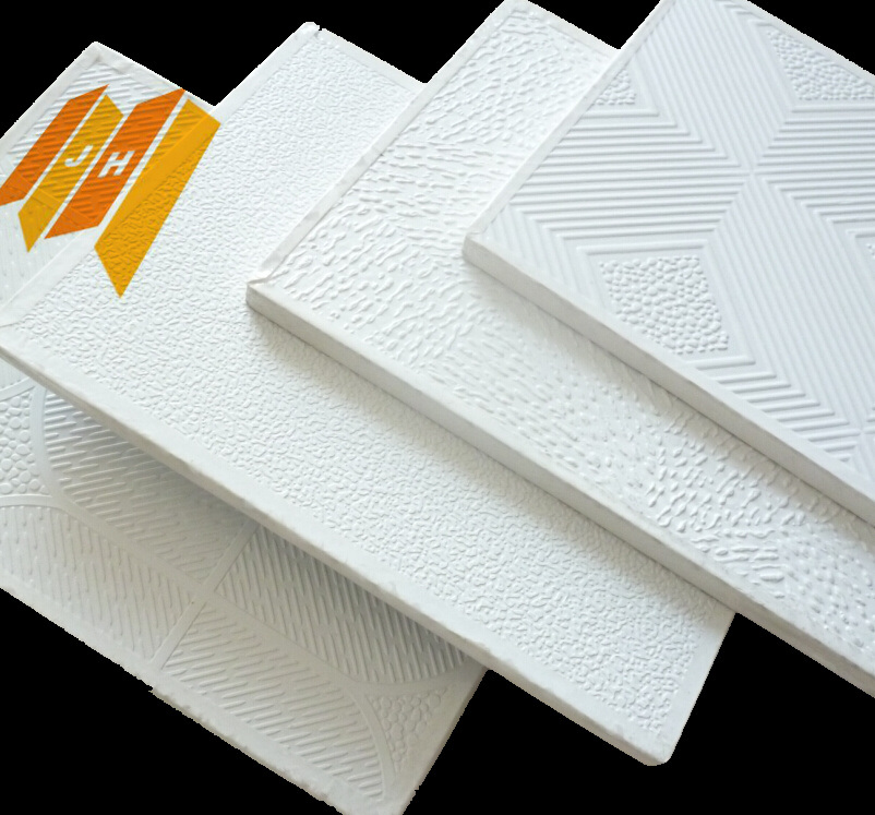 Aluminum Foil Backing PVC Gypsum Ceiling (PVC film)