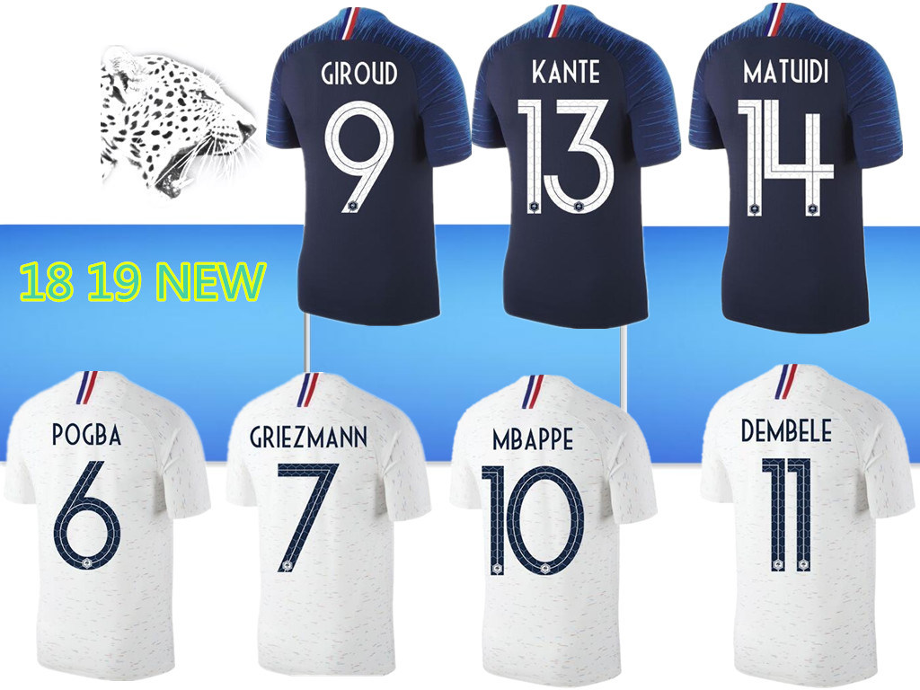 separation shoes d7f39 695c7 [Hot Item] Thailand France Soccer Jerseys 2018 World Cup Maillot De Foot  Griezmann 7 Pogba 6 Mbappe 10 Kante Jersey Football Kits Dembele Soccer  Shirt