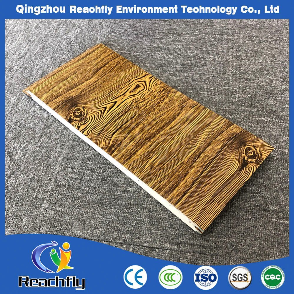 Hot Item Shandong Outdoor Decoration Wood Grain Wall Panel Pu Cladding Board Exterior Covering