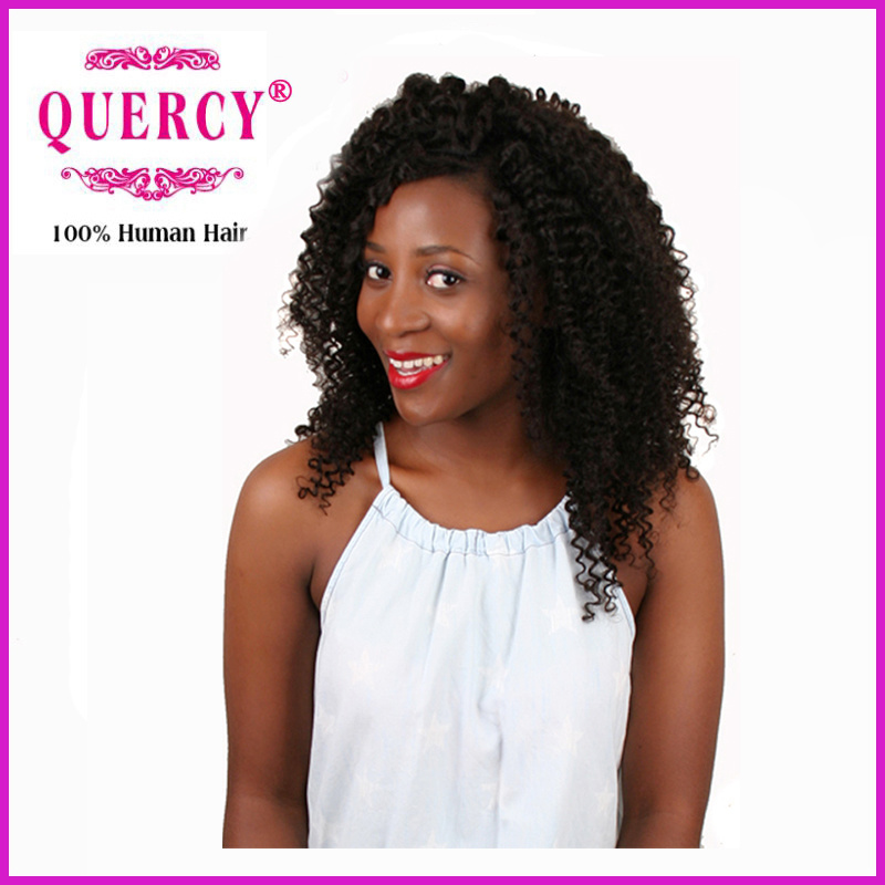 China Quercy Hair Kinky Curl Brazilian Hair Weave 100 Virgin Remy