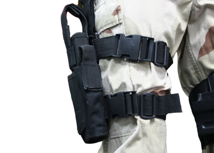 Military Tactical Holster Right Leg Holster Drop Leg Bag Airsoft Gun Holster NEW