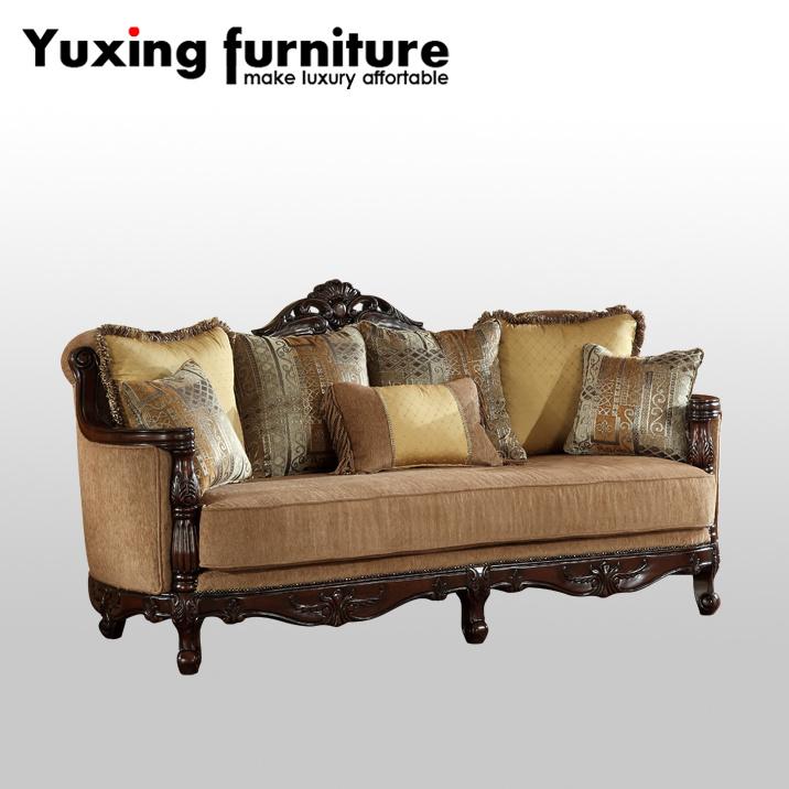 Fabric Livingroom Sofa Set Traditional