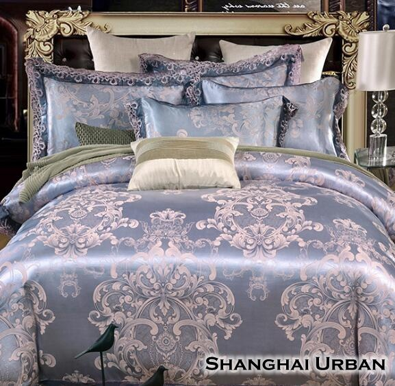 Tencel Jacquard Cotton Luxury Duvet Cover Bedding Set