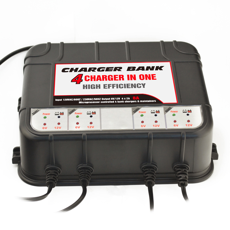 12 Volt Smart Battery Chargers -4 Bank Battery Chargers pictures & photos