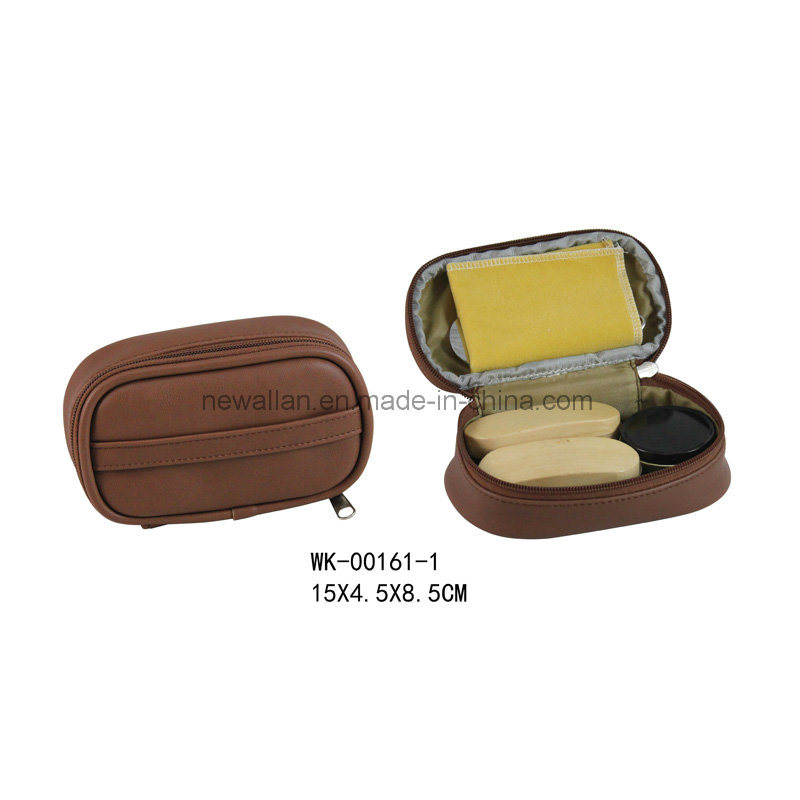 low price shop best sellers various design China 5PCS Shoe Care Tools Brown Leather Zipper Small Travel Shoe ...