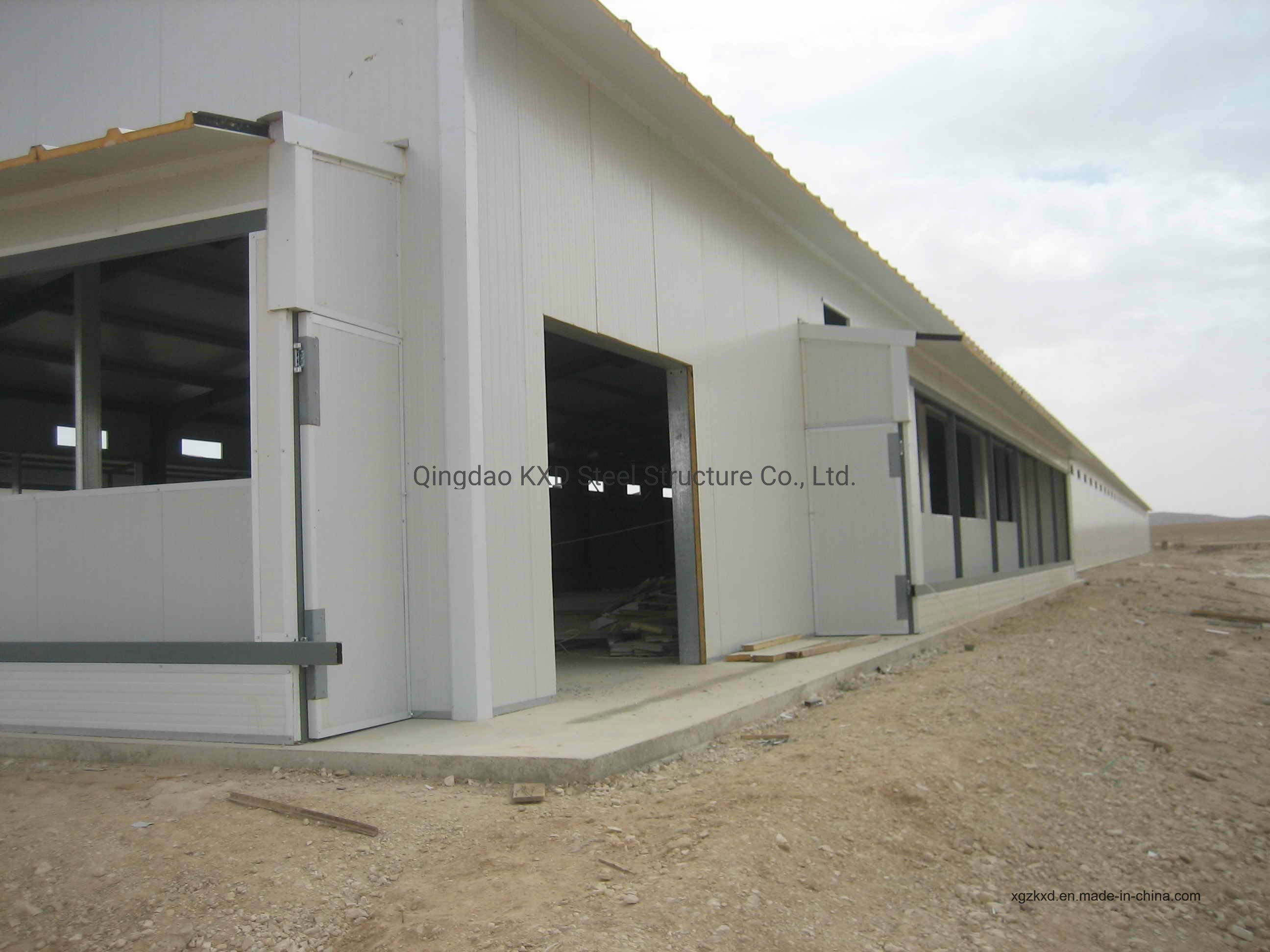 Galvanized Prefabricated Steel Structure Farm Poultry Chicken Broiler Layer House