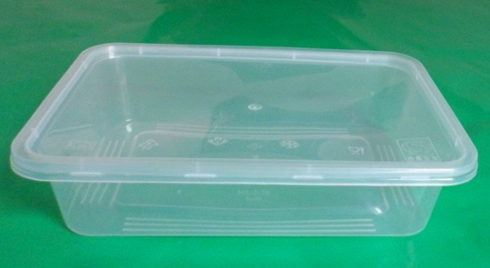 China 500ml 1000ml Pp Disposable Microwave Food Container Box Plastic