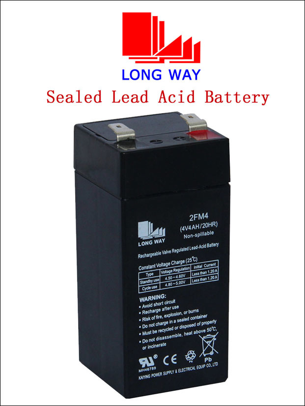 4V4ah Rechargeable Industrial UPS Sealed Lead Acid Battery