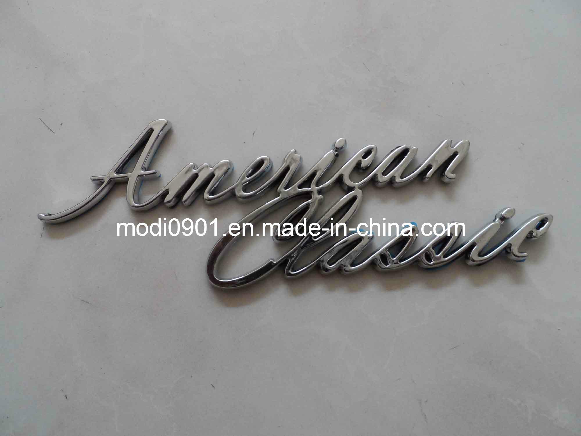 China Custom Abs Car Badges And Chrome Auto Emblems Customized