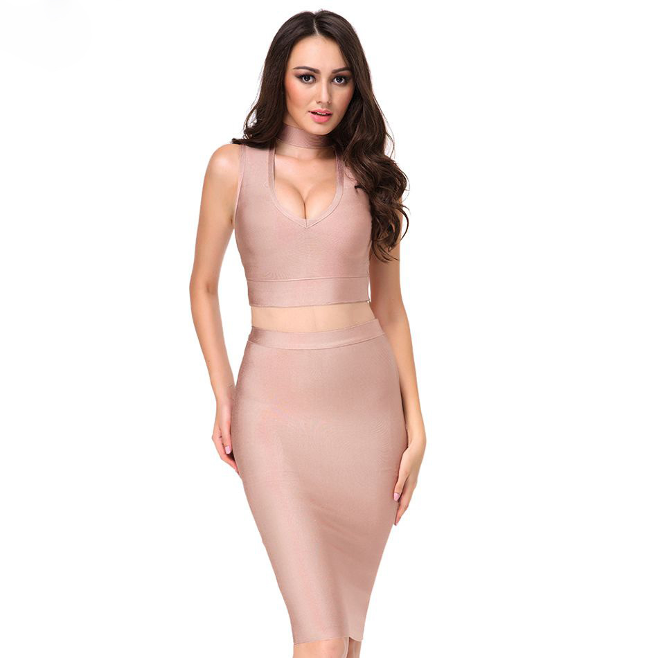China 2018 Summer Bodycon Dress Women Sexy Deep V Neck Two Piece ...