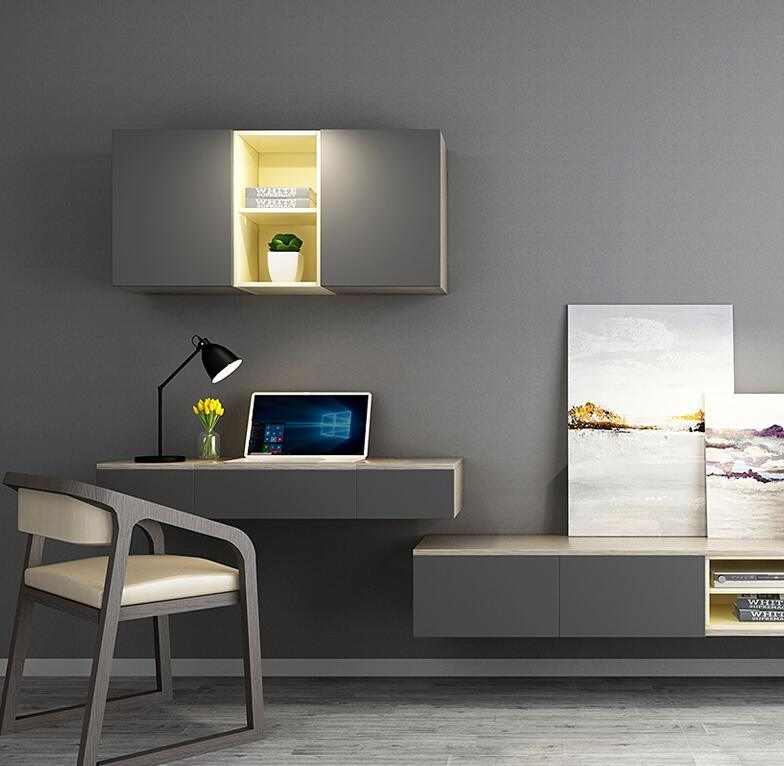 Hot Item Bedroom Tv Cabinet Set Modern Contracted Wall Cabinet Dressing Table Combination