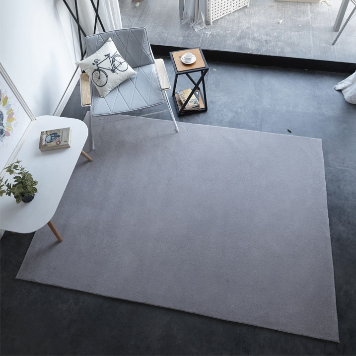 Plain Color Carpet Area Rugs Grey