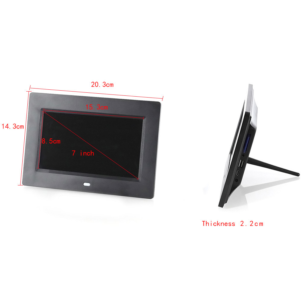 China 7 Inch Black White Lcd Digital Picture Photo Frame With Motion Sensor