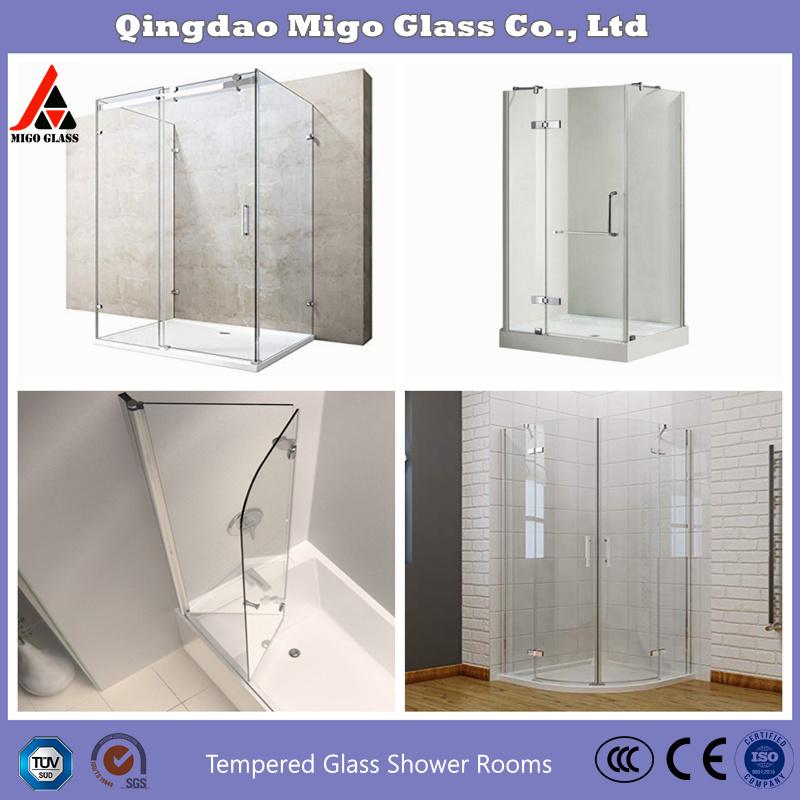 China Frameless Tempered Toughened Glass Shower Doors Shower