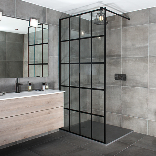 China New Design 8mm Bathroom Tempering Glass Shower Screen Easy