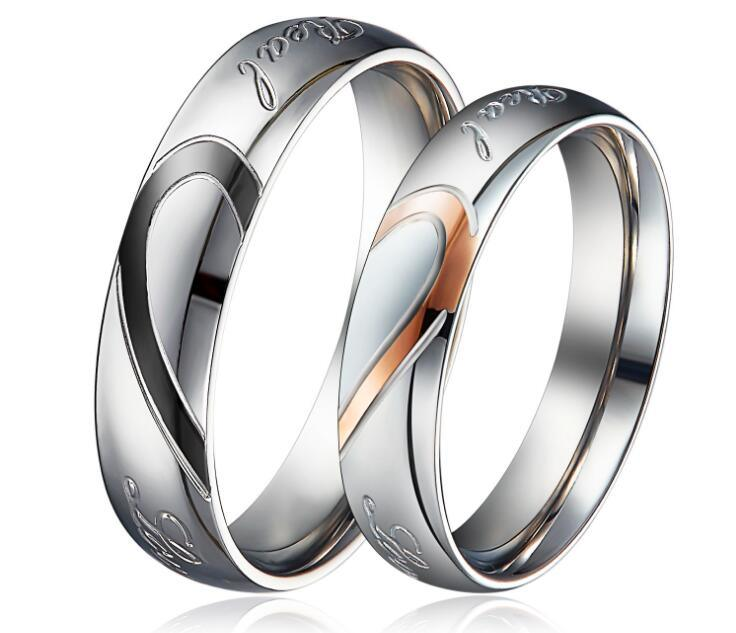 d95759cdb5 China Heart Shape Matching Titanium Promise Ring for Couple 316L Stainless  Steel Wedding Bands Rings - China Fashion Rings, Men Finger Ring