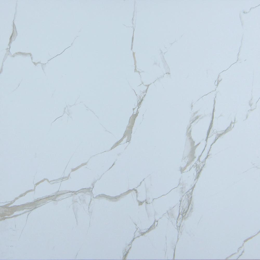 China White Shiny Floor Tile White Marble Floor Design White Color