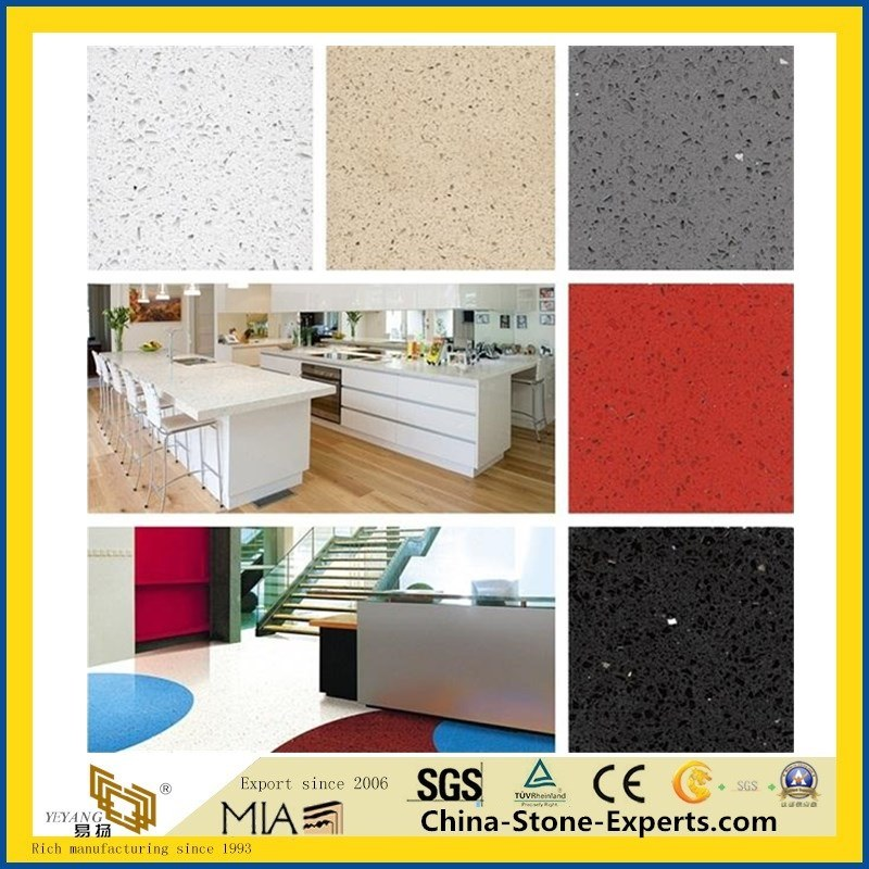 Prefab White/Black/Grey/Galaxy Quartz/Granite/Marble/Laminate/Bathroom/Natural/Factory/Artificial/Island Stone Kitchen Countertop for Hotel Cabinet Project pictures & photos