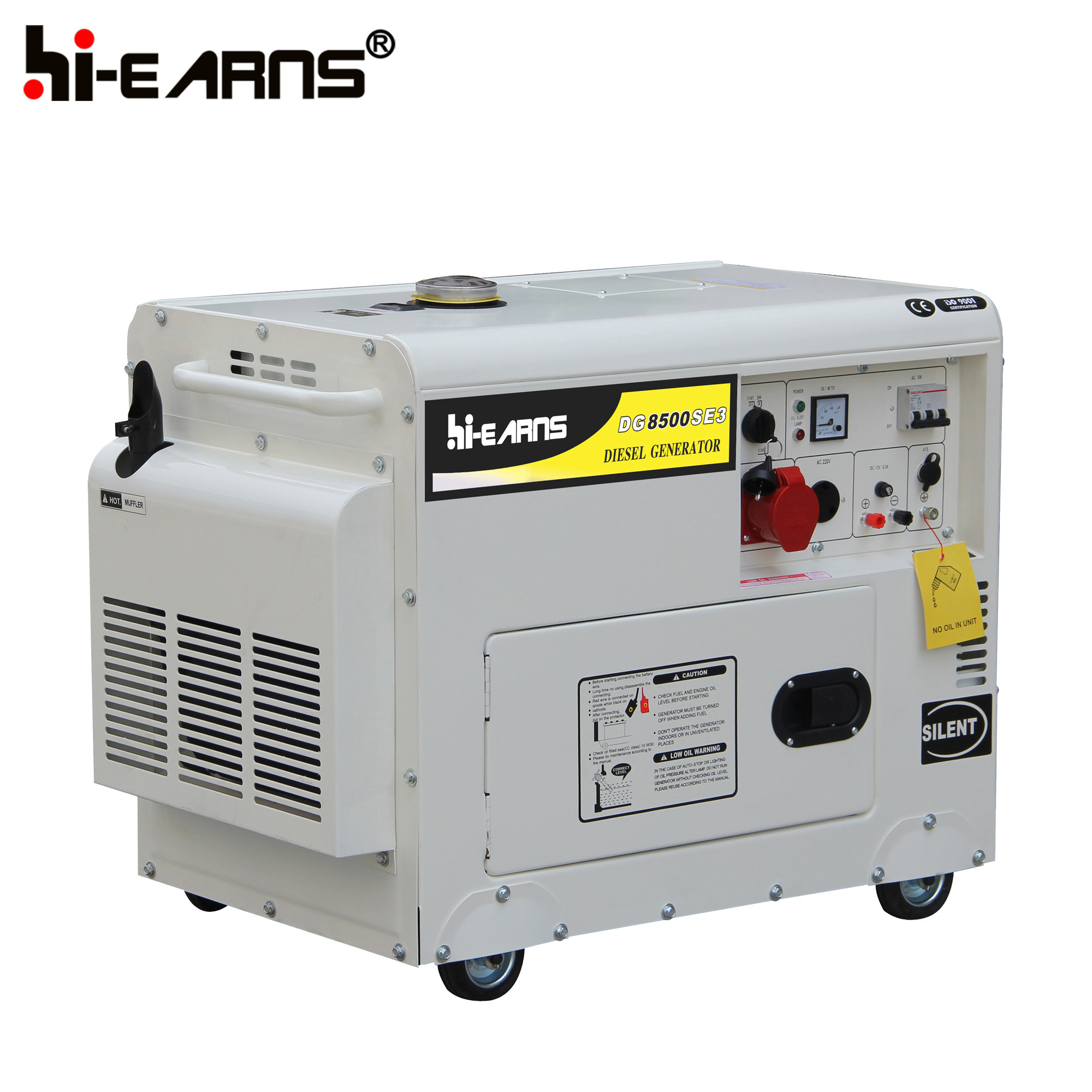 China 6 5kw Silent Type Diesel Generator for Home Use DG8500SE