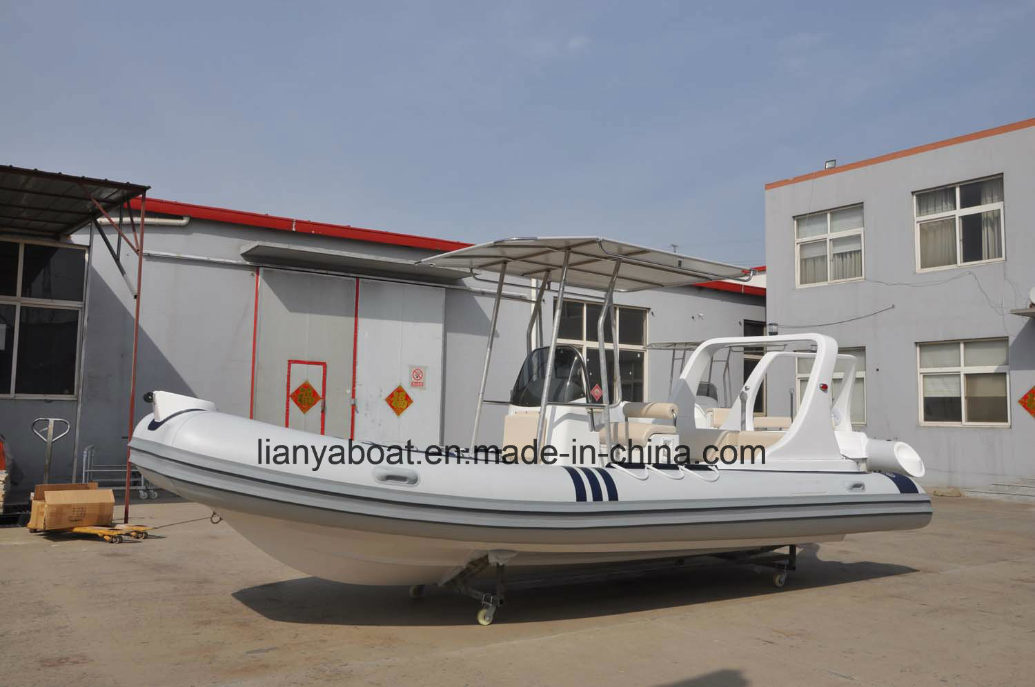 Liya Outboard Motor China 6.2m Rigid Tender for Fishing