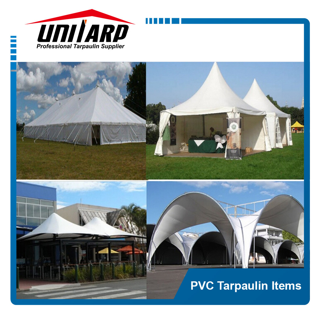 550GSM White PVC Coated Polyester Vinyl Fabric for Tent Awnings pictures & photos