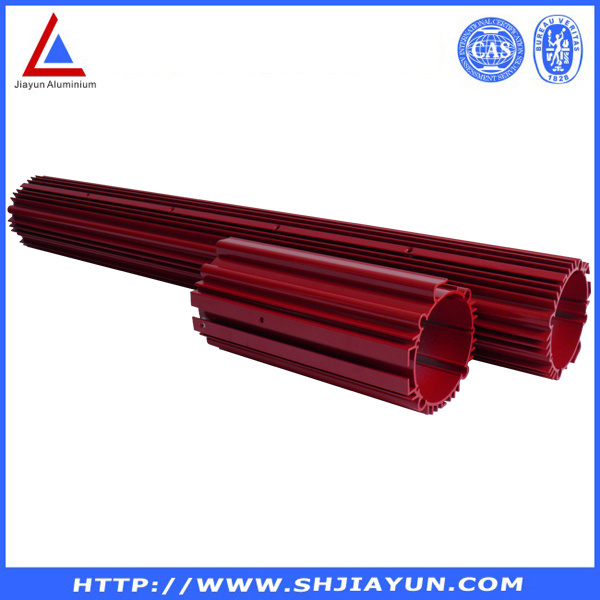 6063 T5 Anodized Aluminum Extrusion with SGS ISO RoHS Certification