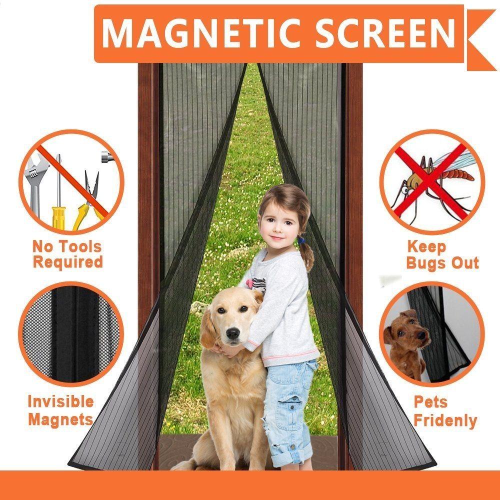 China 2018 Magnetic Screen Door For French Doors China Magic Mesh