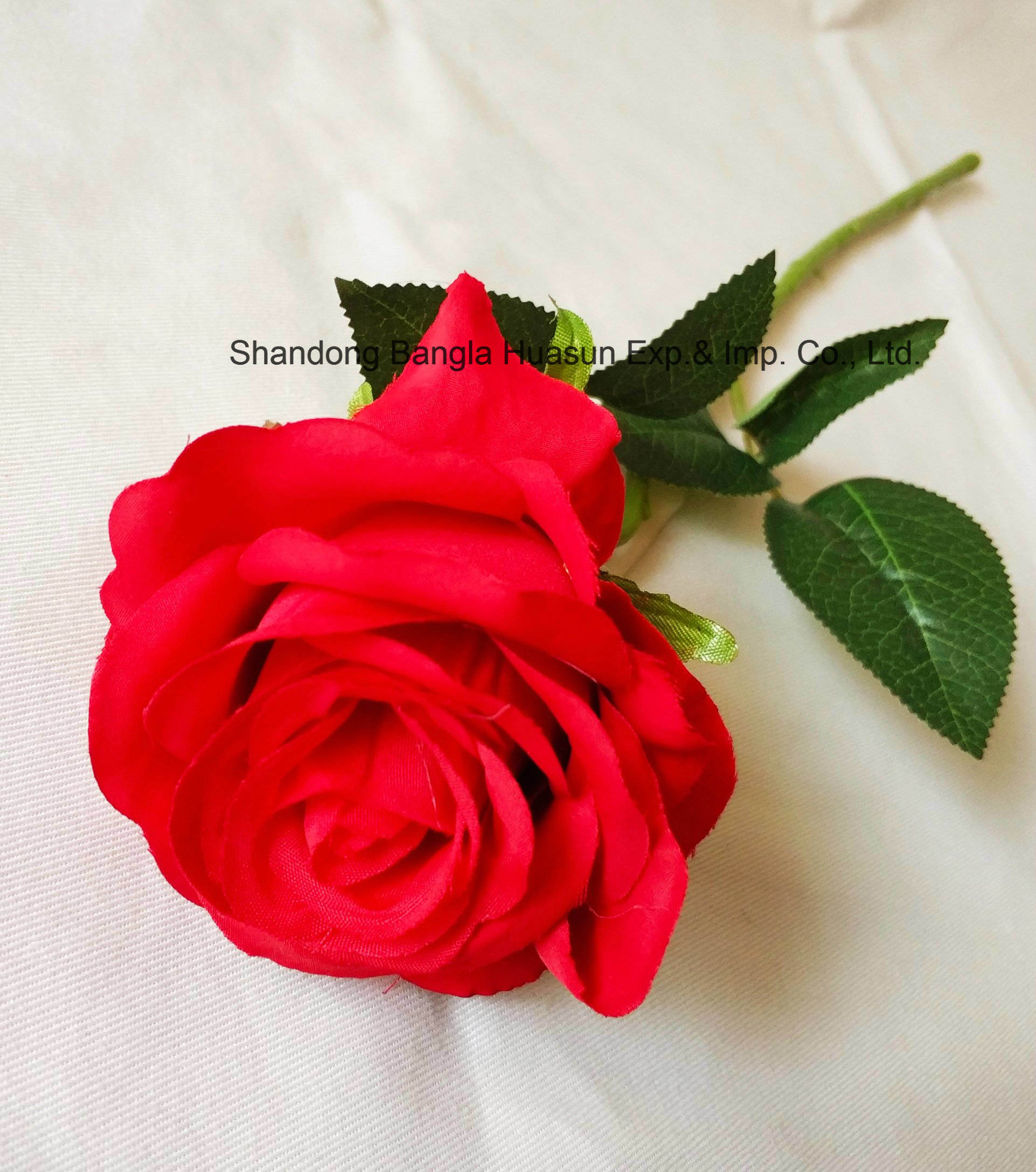 China Artificial Flower Silk Single Rose Real Touch For Valentines