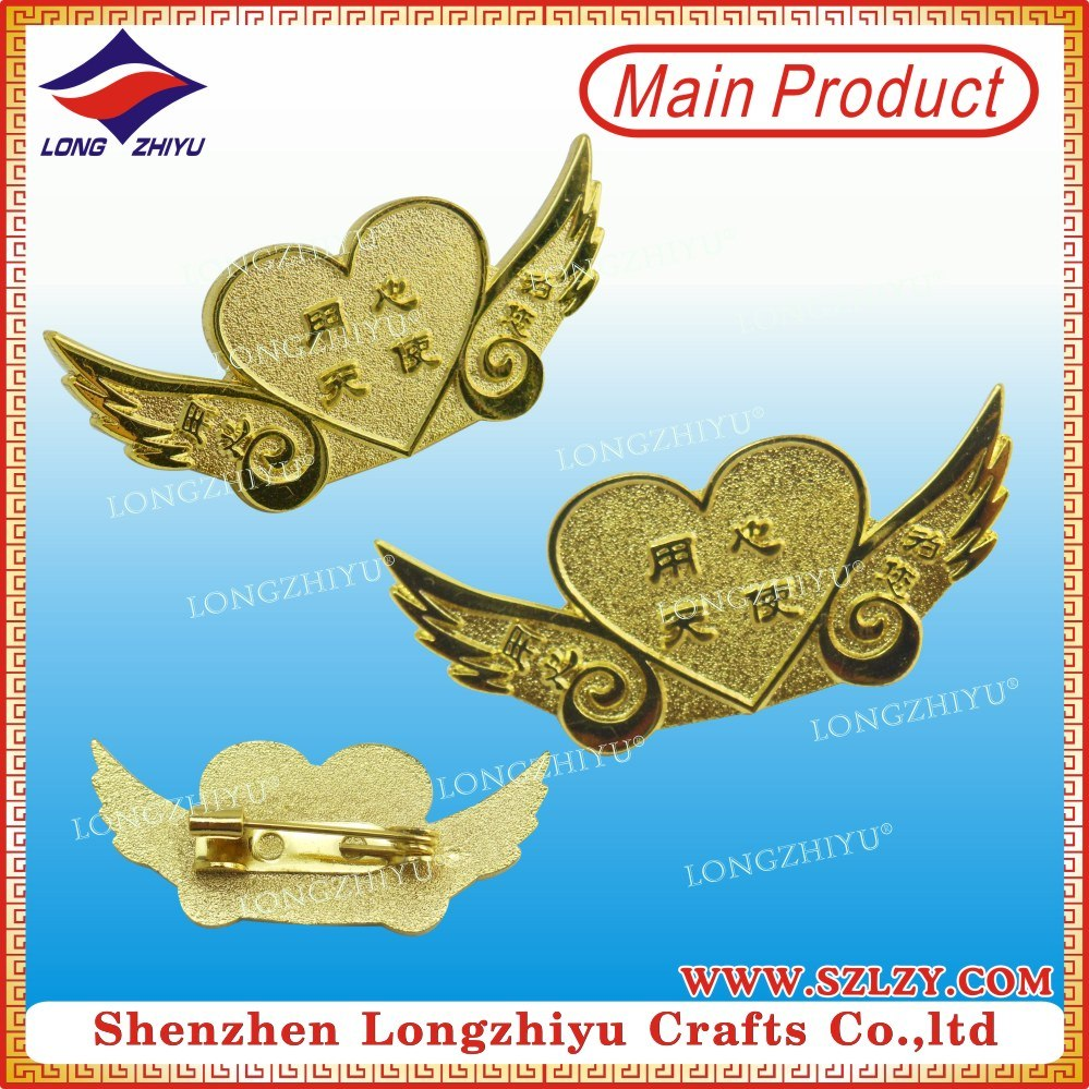 Gold Plated Never Rust Magnetic Metal Badges