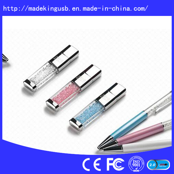 Luxury Crystal USB Flash with Colorfull Diamond for Shinny