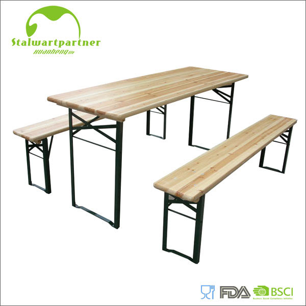 China Biertisch Wooden Beer Table Set - China Beer Table, Outdoor ...