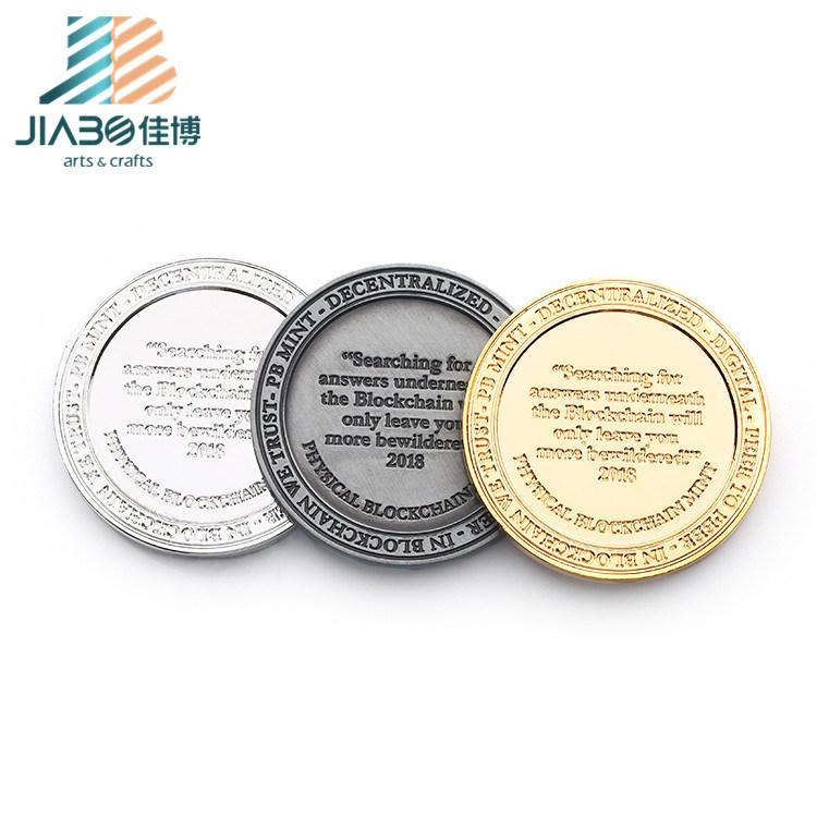 [Hot Item] Custom Metal Black Nickel Blank Coins for Engraving