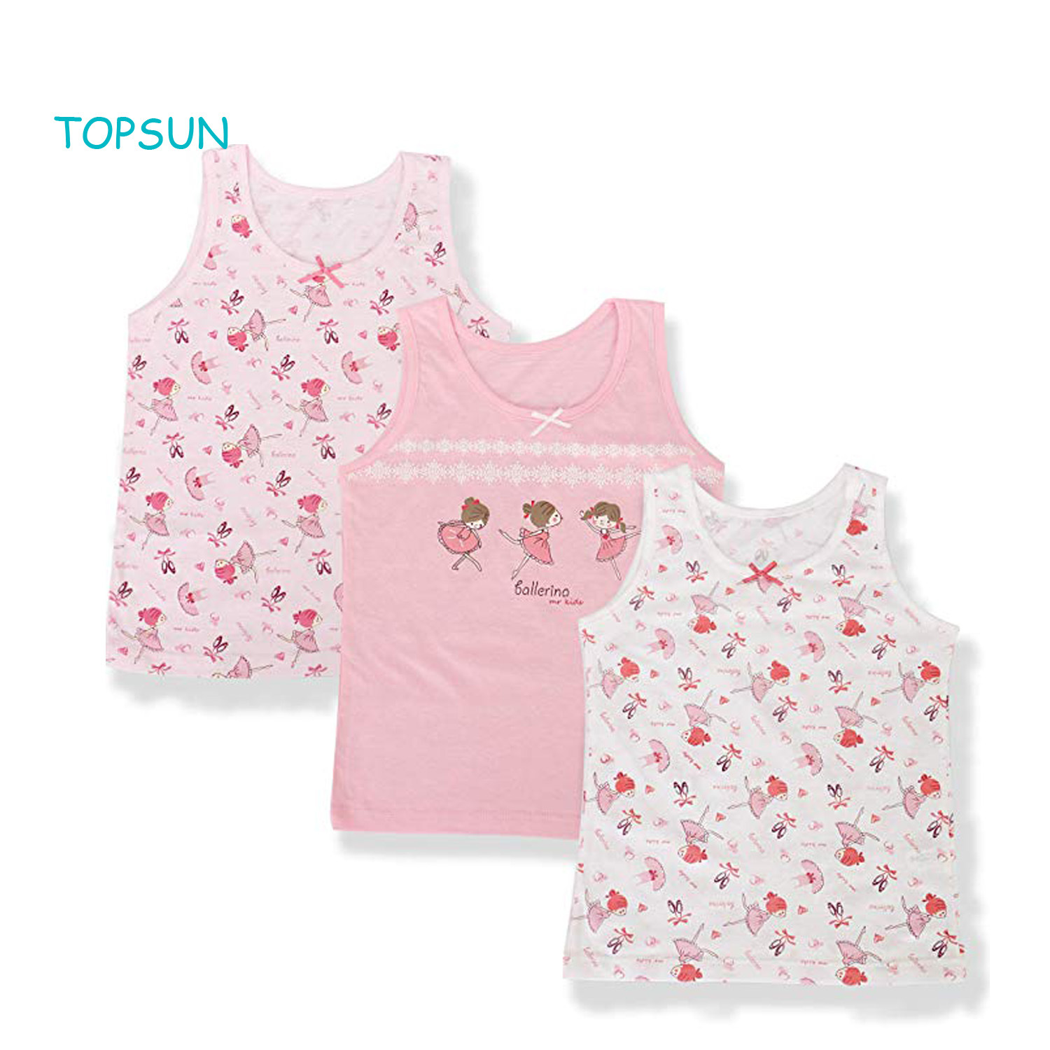 China Children Cute Tank Top Cotton 100% Toddler Girls Undershirts Underwear  3 Pack - China Baby Products and Baby Clothes price