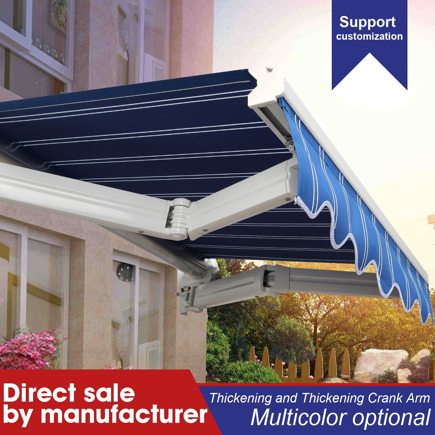 China Outdoor Carport Retractable Awning Fabric China Retractable Awning Price