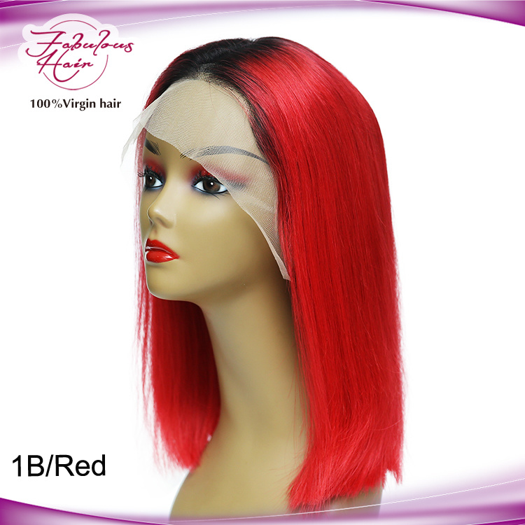China Unprocessed 100 Natural Hair Wigs Short Hair 1b Red Bob Wigs Lace Front Wigs China Lace Front Wigs And Short Hair Bob Wigs Price