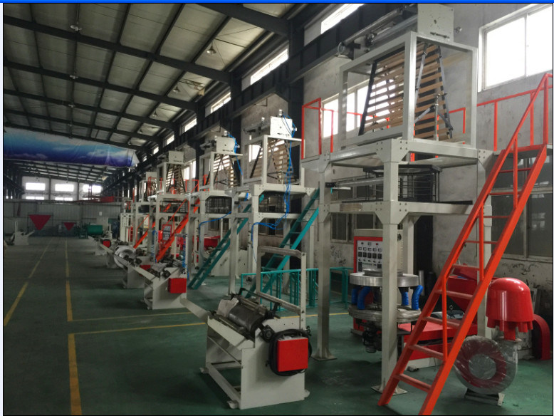 PE Film Blowing Machine with Bag Making Line