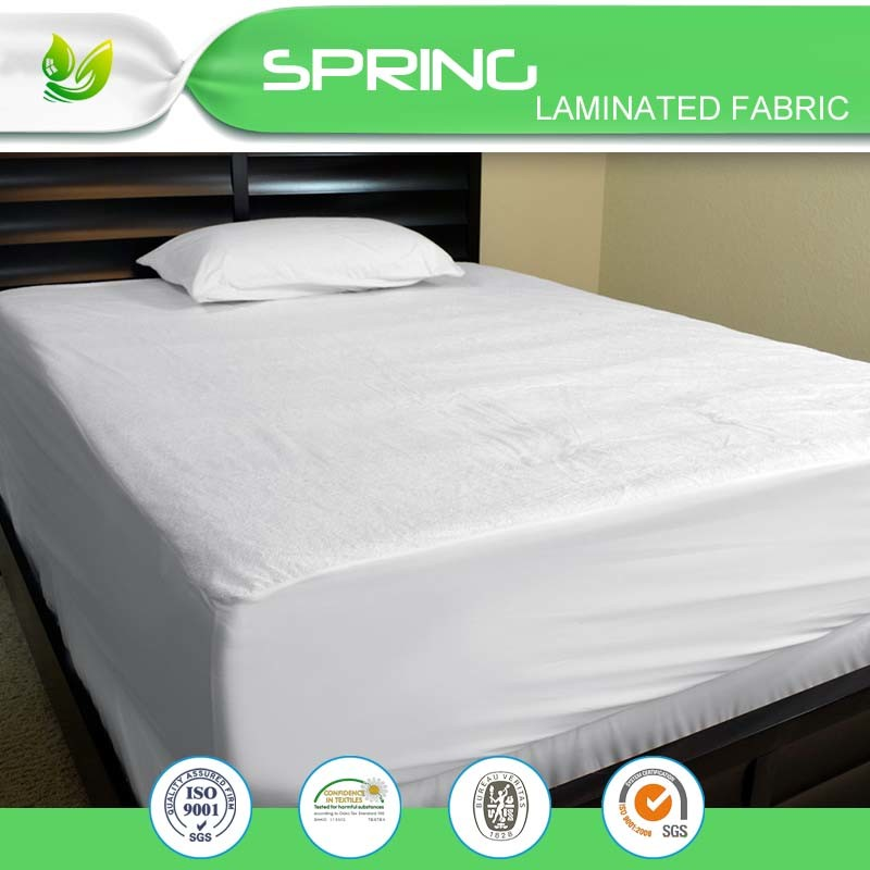 Deep Pocket Waterproof Matress Cover Fitted Mattress Protector Polyester Terry
