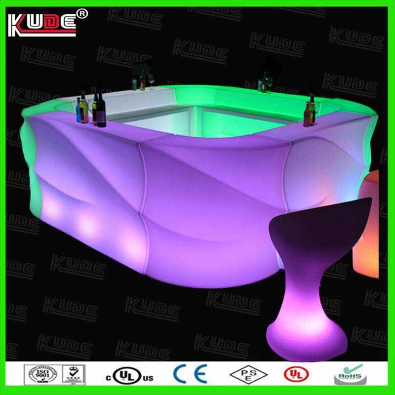 Wholesale Plastic Furnitures LED Bar Counter