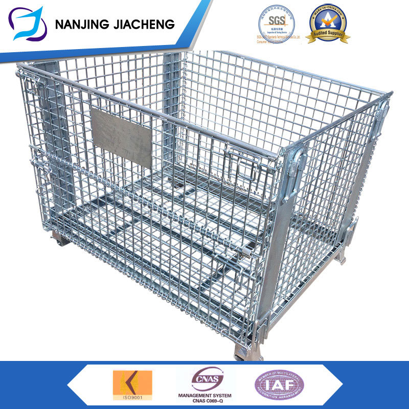 China Good Price Wholesale Pallet Basket Collapsible Wire Mesh ...