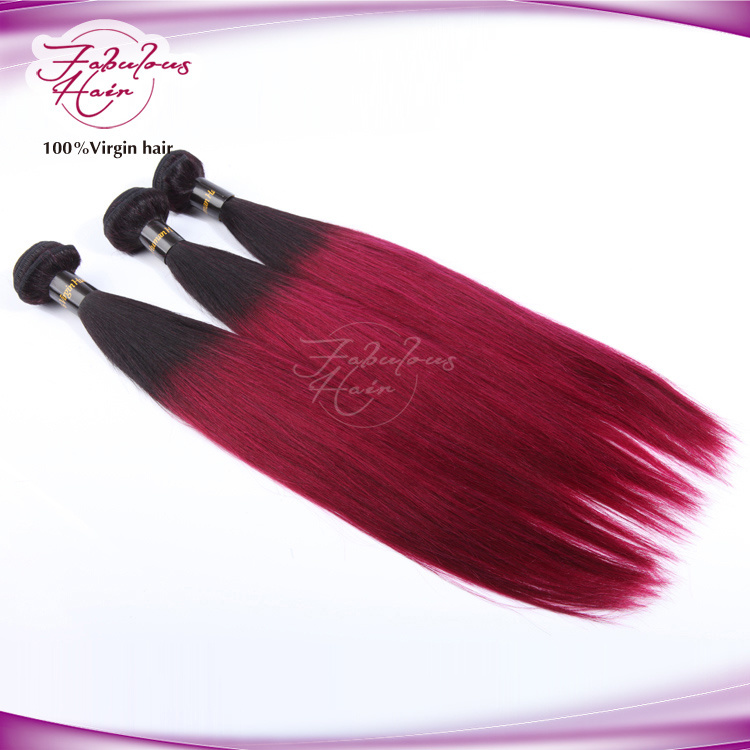 8A Ombre Human Hair Weaving Virgin Straight Hair 1b/99j Color pictures & photos