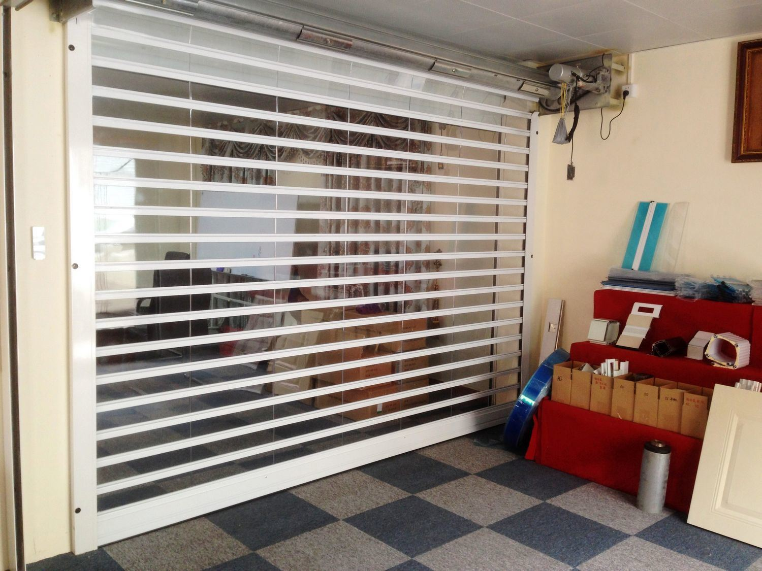 Hot Item Pc Roller Shutter Door Transparent Rolling Shutter Door