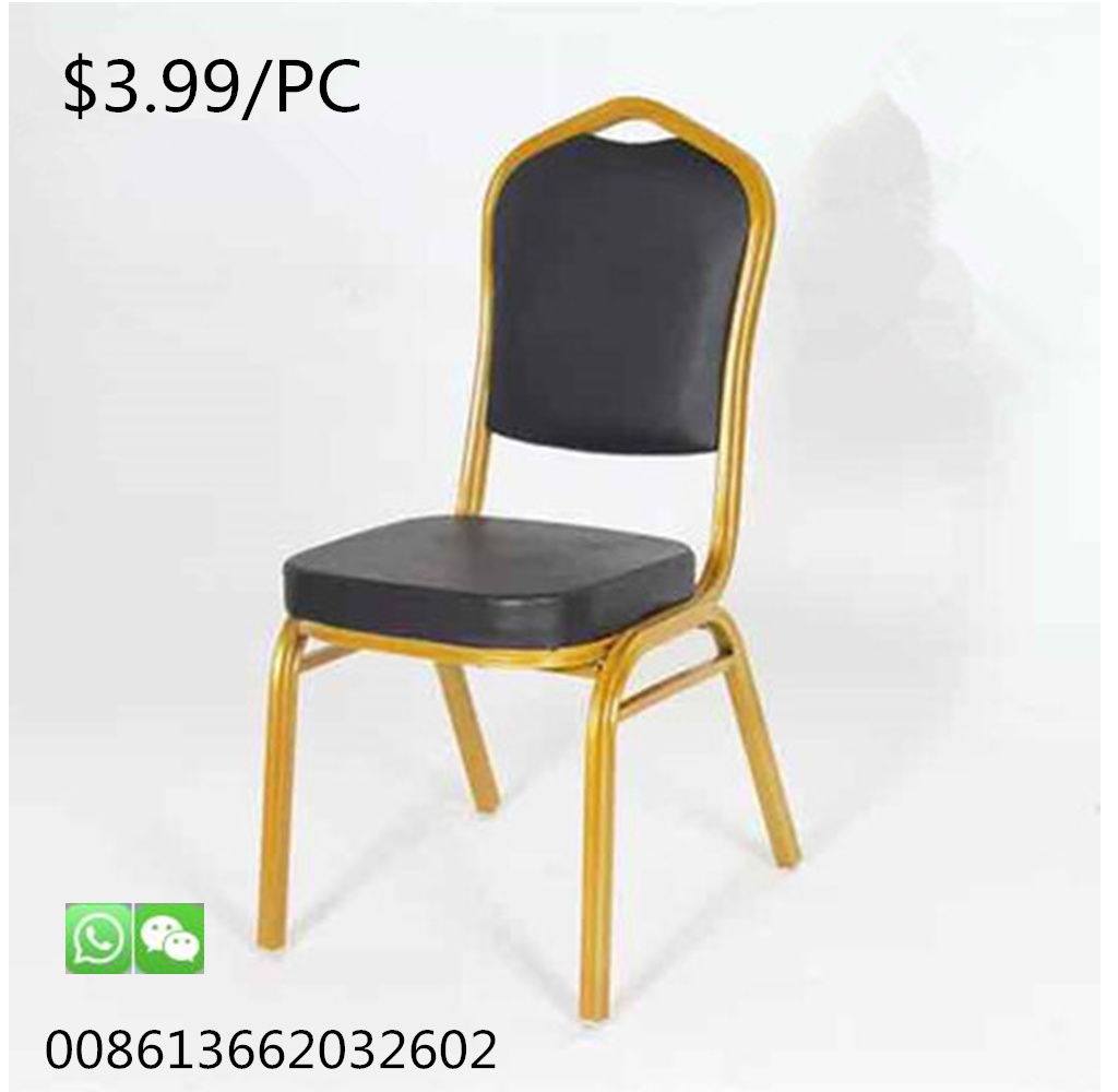 Hot Item Modern Wholesale Color Gold Stackable Smooth Flannelette Hotel Banquet Chair