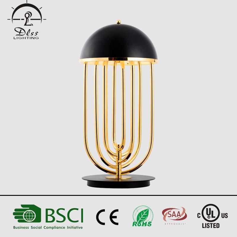Modern Elegant Black Gold Table Lamp Project Hotel Desk Light