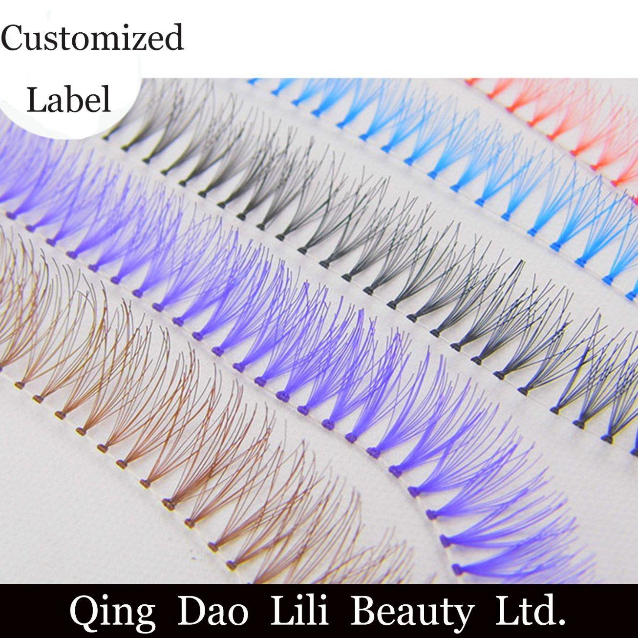 China Lili Beauty Oem Volume Lash Fans Individual Lashes Knot Free
