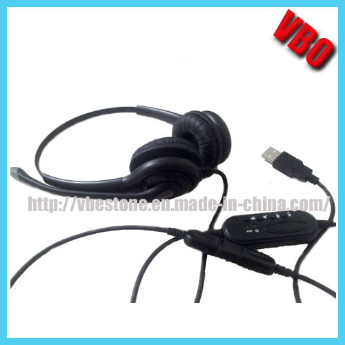 China Binaural Durable Telephone Headset With Usb Connector Vb 1002nc Usb China Headphone And Headset Price