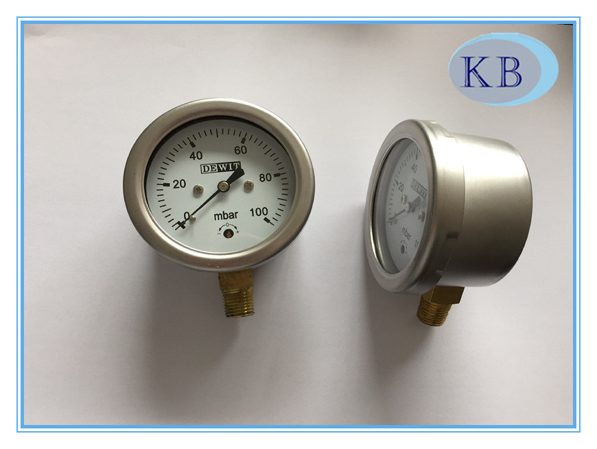 Capsule Gauge Gauge Snap in Plexiglass Dia. 63mm